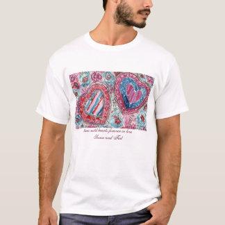 Deux coeurs sauvages dans l'amour t-shirt