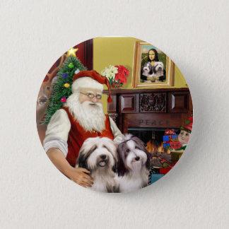 Deux colleys barbus de Père Noël Pin's
