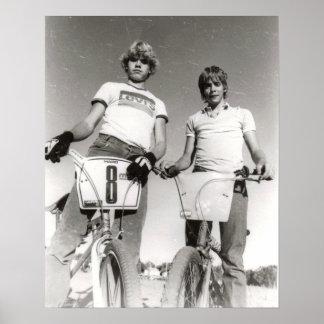 Deux copie soumise de la vieille école BMX Poster