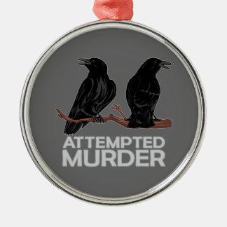 Deux corneilles tentatives de meurtre ornement de noël