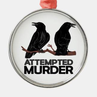 Deux corneilles = tentatives de meurtre décorations de noël