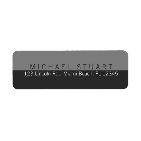 Deux couleur faite sur commande minimaliste étiquettes d'adresse retour