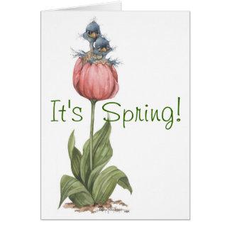Deux dans la tulipe - carte