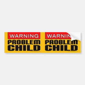 Deux-dans-un l'avertissement : Enfant de problème Autocollant De Voiture
