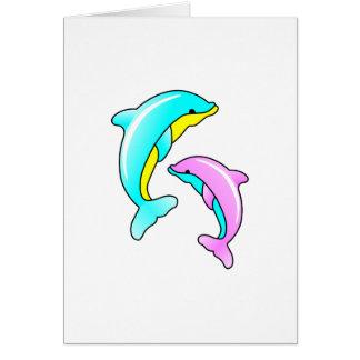 Deux dauphins carte de vœux