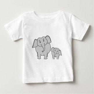 Deux éléphants mignons. Bande dessinée T-shirt Pour Bébé