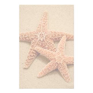 Deux étoiles de mer de sucre papier à lettre customisable