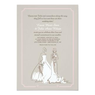 Deux faire-part de mariage de jeunes mariées