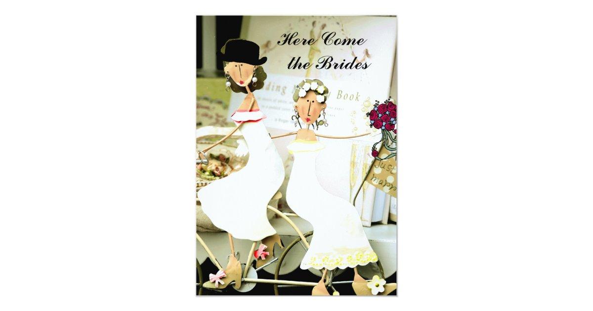 Deux faire part de mariage de jeunes mari es avec - Cadeau jeune marie ...