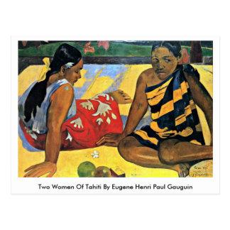 Deux femmes du Tahiti par Eugene Henri Paul Carte Postale