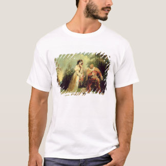 Deux figures dans le costume turc dans terres t-shirt