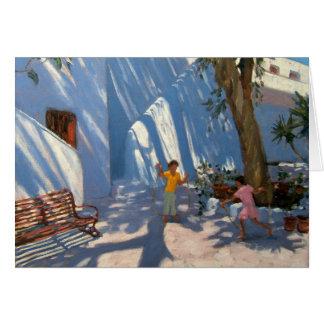 Deux filles sautant Mykonos Carte De Vœux