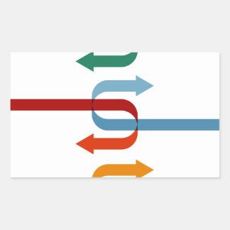 Deux flèches compatibles de société sticker rectangulaire