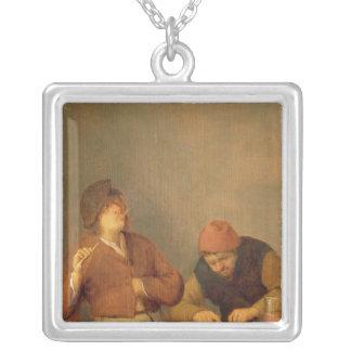 Deux fumeurs dans un intérieur, 1643 pendentif carré