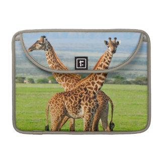 Deux girafes poche pour macbook pro