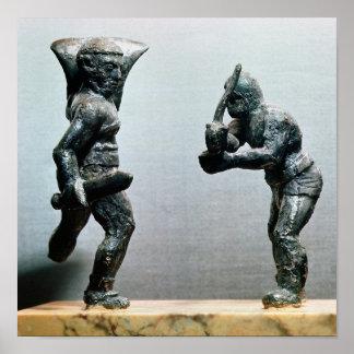 Deux gladiateurs dans le combat posters