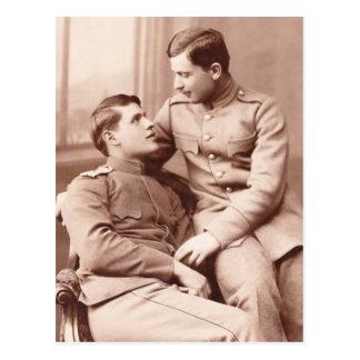 Deux hommes carte postale