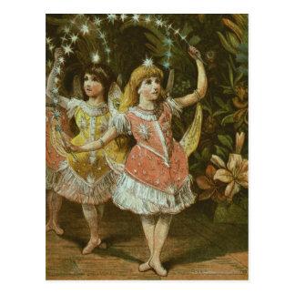 Deux jeunes filles exécutent le ballet cartes postales