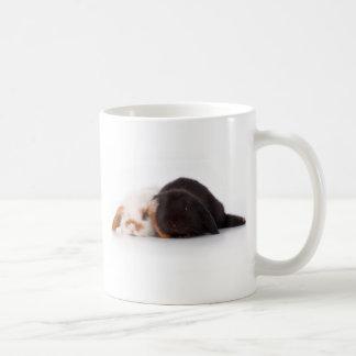 Deux lapins mignons de bébé mug