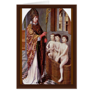 Deux légendes de Saint-Nicolas par David Gerard Carte De Vœux