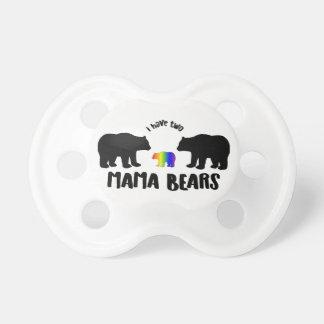 Deux maman Bears Pacifier Binky Tétine