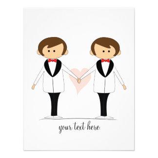 Deux mariés épousant des invitations