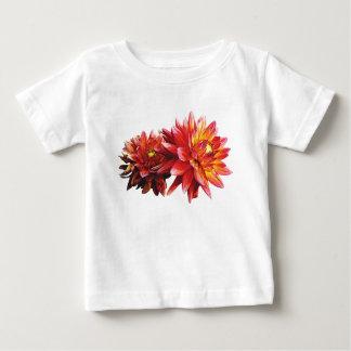 Deux nourrissons oranges de dahlias t-shirt pour bébé