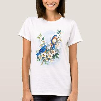Deux oiseaux bleus t-shirt