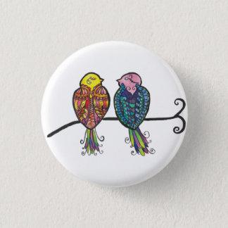 Deux oiseaux colorés badges