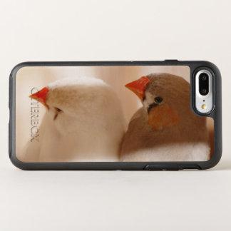 Deux oiseaux mignons de pinson dans la cage coque otterbox symmetry pour iPhone 7 plus