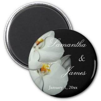 Deux orchidées blanches sur le mariage personnel aimant