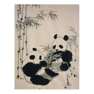 Deux pandas carte postale