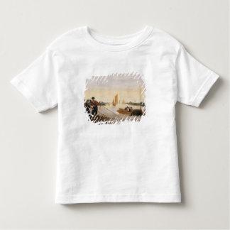 Deux pêcheurs tirant dans leurs filets t-shirt pour les tous petits