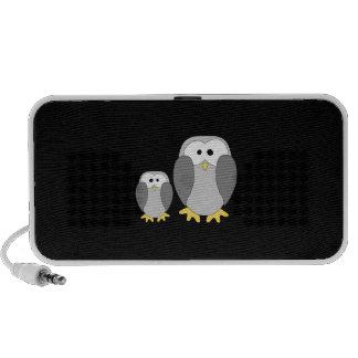 Deux pingouins mignons Bande dessinée Haut-parleurs iPod