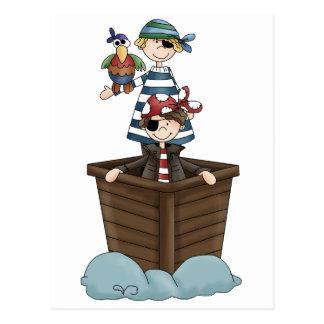 Deux pirates carte postale
