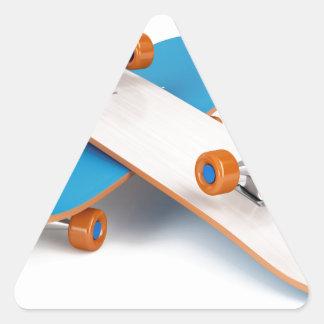 Deux planches à roulettes sticker triangulaire