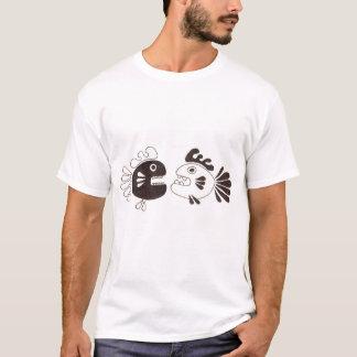 deux poissons et un poulpe t-shirt