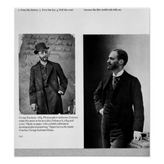 Deux portraits de George Eastman 1884 et 1890 Posters