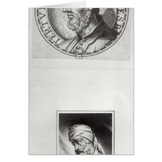 Deux portraits de Quintus Septimus Carte De Vœux