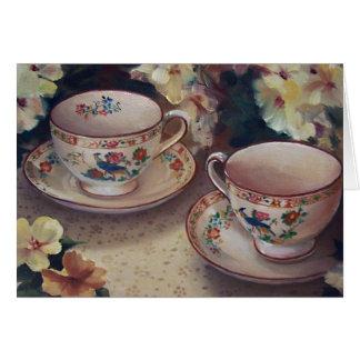 Deux pour le thé carte de vœux