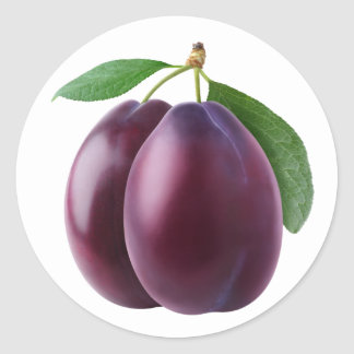 Deux prunes pourpres sticker rond