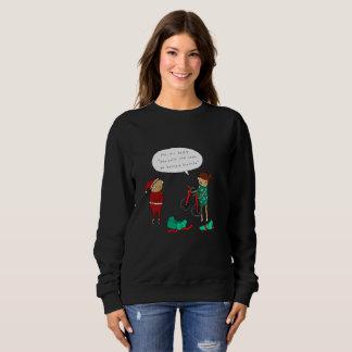 Deux pullover comique drôle de Noël des monocycles