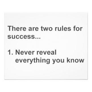 Deux règles pour le succès indiqué prospectus 11,4 cm x 14,2 cm