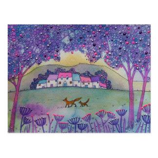 Deux renards cartes postales