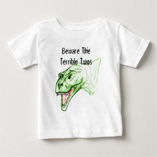 Deux terribles Grumposaurus T-shirt Pour Bébé