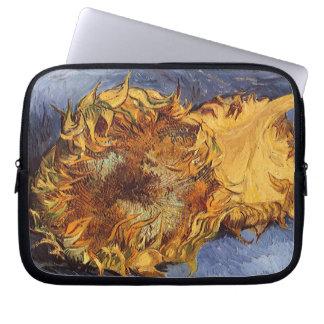 Deux tournesols coupés par Vincent van Gogh Housse Pour Ordinateur Portable
