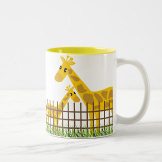 Deux (trop) tasses mignonnes de girafes