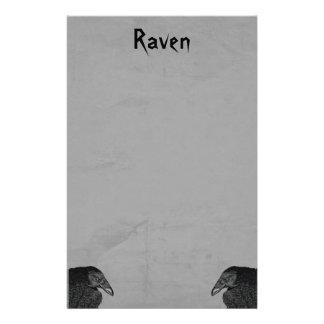 Deux type gothique illustrations de Raven de noir Papeterie