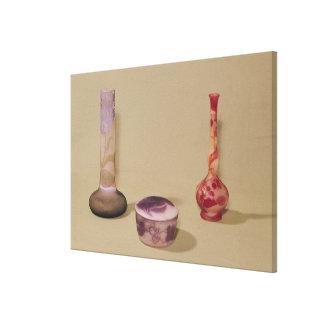 Deux vases et un bonbonniere, 19ème-20ème siècle toiles