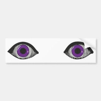 Deux yeux pourpres autocollant pour voiture